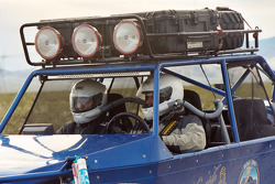 Vanguard Racing: team Vanguard's Ronn Bailey and co-pilot CJ pre-run practice buggy