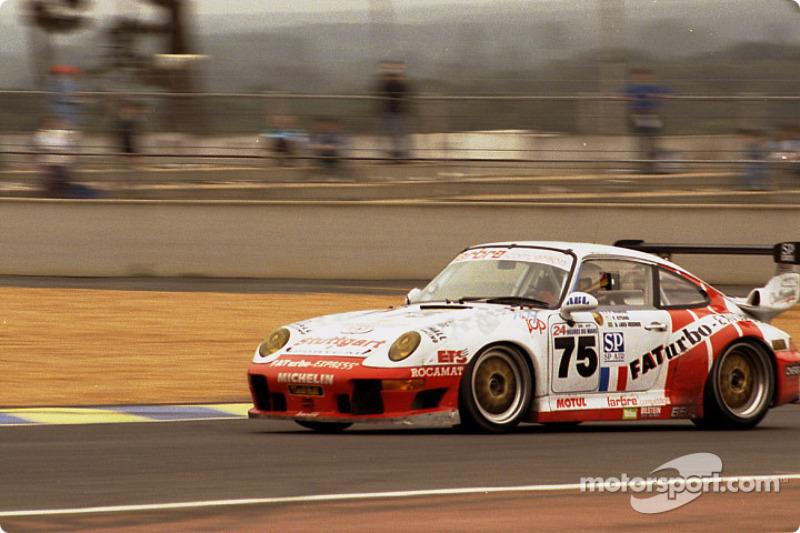 #75 Larbre Compétition Porsche 911 GT2: Patrick Bourdais, André Lara Resende, Peter Kitchak
