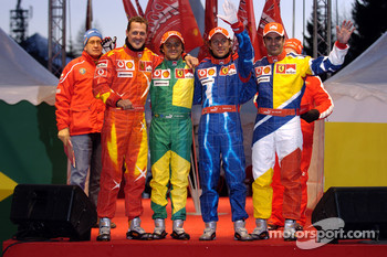 Michael Schumacher, Felipe Massa, Luca Badoer and Marc Gene