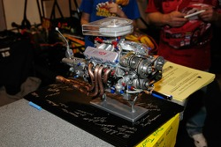 Miniature NASCAR Cup engine, being raffled by the Syracuse Quarter Midget & Microrod Club