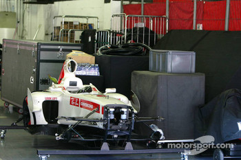 Honda Racing garage area