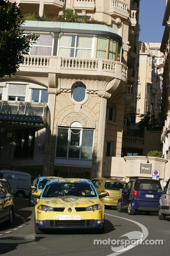 Drive in the street of Monaco