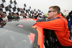 Pole winner Jeff Burton focuses before the race