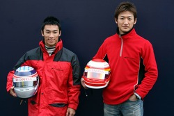 Takuma Sato and Yuji Ide