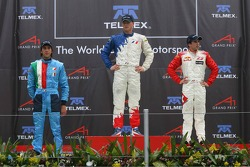 Podium: race winner Alexandre Premat with Enrico Toccacelo and Neel Jani