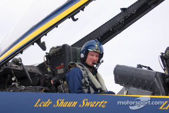 Blue Angels event in El Centro: Dale Earnhardt Jr. in a F/A 18 Hornet