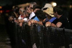 Fans wait for the night session to start