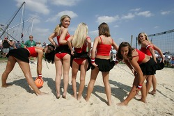 Beach volley match: the lovely Bacardi girls