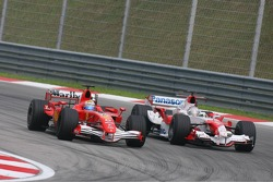 Felipe Massa and Jarno Trulli