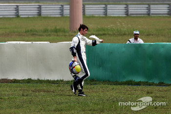 Mark Webber out of the race