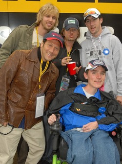 Rob Schneider, David Spade and John Heder meet a kid from the Make a Wish Foundation