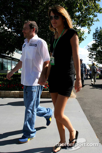 Jacques Villeneuve with his new girlfriend Johanna