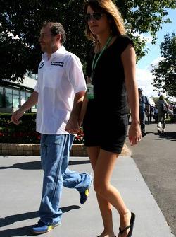 Jacques Villeneuve with his new girlfriend Johanna