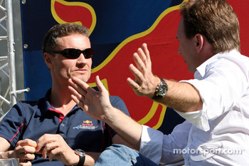 David Coulthard and Christian Horner