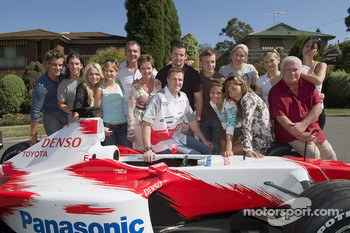 Ralf Schumacher visit the cast of 'Neighbours'