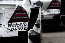 Rear of Mercedes Benz cars