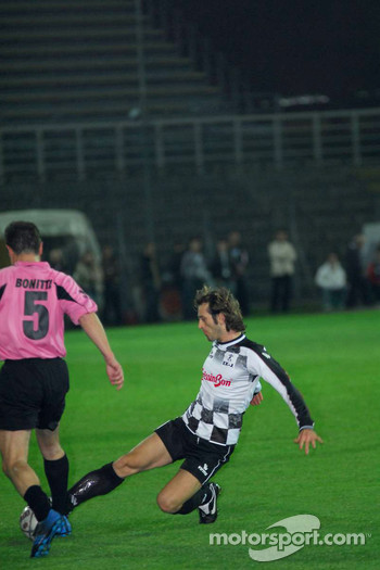 Champions for Charity football match, Ravenna's Benelli Stadium: Jarno Trulli
