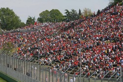 A large crowd at the race