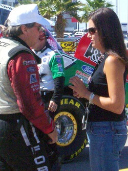 John Force and Ashley Force