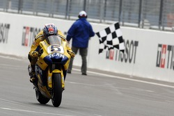 Colin Edwards at the finish line