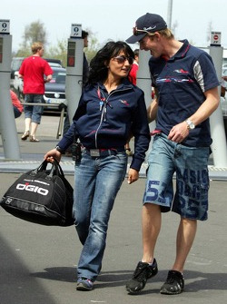 Scott Speed with press officer Fabiana Valenti