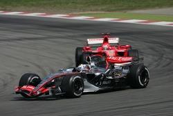Juan Pablo Montoya and Michael Schumacher
