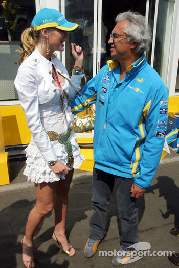 Miss Germany and Flavio Briatore