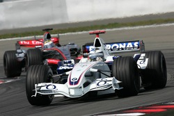 Nico Rosberg leads Juan Pablo Montoya