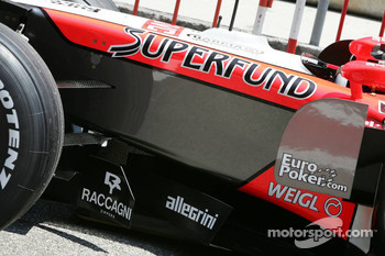 Midland MF1 Racing Superfund sponsorship