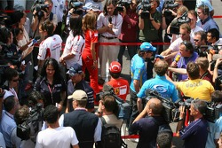 Formula 1 drivers talk with the media