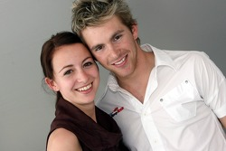 Scott Speed with his girlfriend Valentina