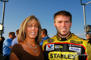 Scott Riggs poses for a photo with his mom, Susie Nolff