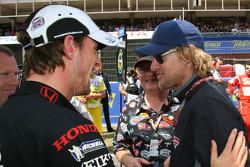 Jenson Button with actor Owen Wilson