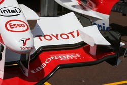 Toyota F1 bodywork in the pitlane