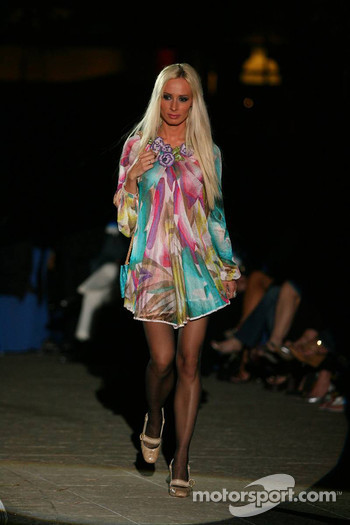 Cora Schumacher at a fashion show