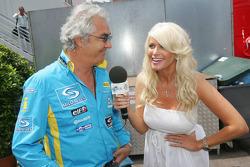 Flavio Briatore is interviewed by Carolina Gynning