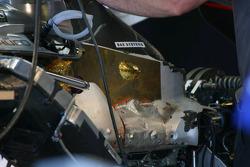 Detail of Mercedes engine