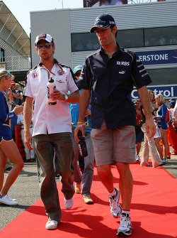 Jenson Button and Mark Webber