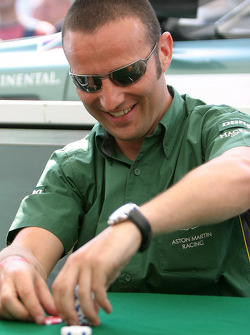 Aston Martin Racing drivers learn how to play poker: Darren Turner