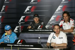 FIA press conference: Giancarlo Fisichella, Jacques Villeneuve, Kimi Raikkonen and Franck Montagny