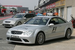 The F1 Safety Car in the pitlane