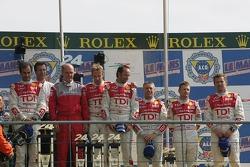 LMP1 podium: Audi Sport Team Joest
