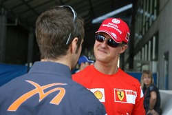 Michael Schumacher and Tiago Monteiro
