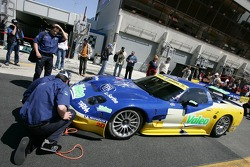 Luc Alphand Aventures Corvette C5-R heads to scrutineering