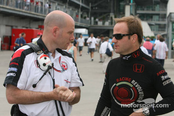 Jock Clear with Rubens Barrichello