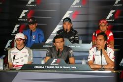 FIA press conference: Jarno Trulli, Pedro de la Rosa, Franck Montagny, Vitantonio Liuzzi, Nico Rosberg and Felipe Massa