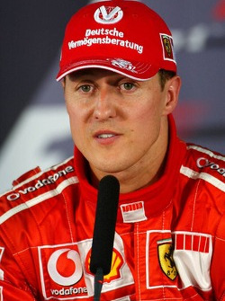 Press conference: pole winner Michael Schumacher