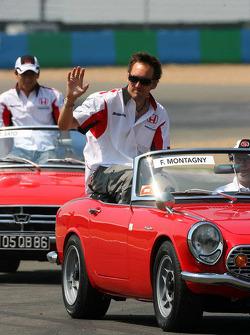 Drivers parade: Franck Montagny