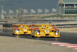 #6 Penske Motorsports Porsche RS Spyder: Sascha Maassen, Lucas Luhr and #7 Penske Motorsports Porsche RS Spyder: Timo Bernhard, Romain Dumas