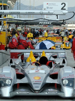 #2 Audi Sport North America Audi R10 TDI Power ready for the grid